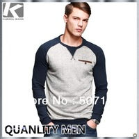 2014 New Arrived Men's Stylish O-neck Long-sleeve T-shirt, Fashion Style Casual Brand T-shirt For Men, Free Shipping