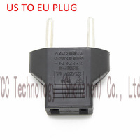 10PCS/LOT Universal Travel Power Plug Adapter US to EU EURO Adaptor Converter AC Power Plug Adaptor Connector