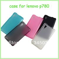 10PCS,Colorful Soft TPU Cover Case For Lenovo P780 Case,white/Light Blue/light pink/black freeshipping