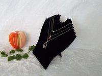 Free Shipping 5pcs/lot Black Velvet Necklace Display Rack Pendant Display Easel Stand 6 slots Necklace&Pendant Display Holder