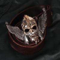 T0790 OGRM Orgrimmar Tin Viking Warrior Belt Buckle Cowhide Waistband Fans Collection