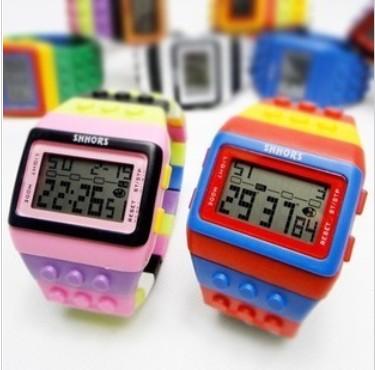 Bigbang watches led electronic watch building blocks table unisex watches(China (Mainland))