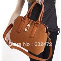 New fashion women handbags lock matte diagonal package PU leather + Corium handbags women messenger shoulder bags