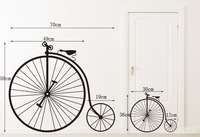 Retail (mixed order) Big wheel bicycle quality elegant simple iron wall stickers xy1077