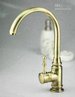Cheap 1  Swivel Kitchen  Faucet Best Deck Mounted  Antique Brass Brass  Sink Bathroom