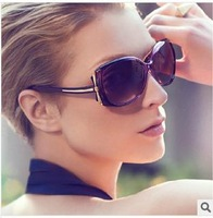 10pcs/lot, 2014 new fashion women classic gradual change lens sunglasses wholesale, big frame dragonfly sunglasses