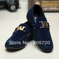 Free shipping 2014 new  Fashion Suede  oxfords california casual shoes men thin sneakers39-44 Big Size