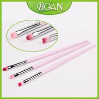 3pcs Nail Brush For Gel Wooden Nylon Brush Gel Art Nail Brush UV 10set/ Lot Free Shipping