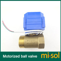 "1pcs of Motorized valve brass G1 1/4"" DN32 (reduce port) 2 way, 12v, electric valve"