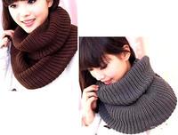 Fashion Women Warm Knit Neck Circle Wool Blend Cowl Snood Long Scarf Shawl Wrap