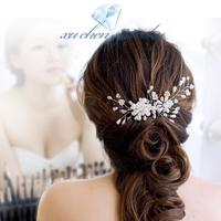 FREE SHIPPING handmade crystal pearl hair combs romantic bridal hair combs wedding hairwear