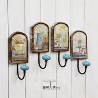 Fashion wood vintage clothes hook coat hooks wall decoration 4 styles
