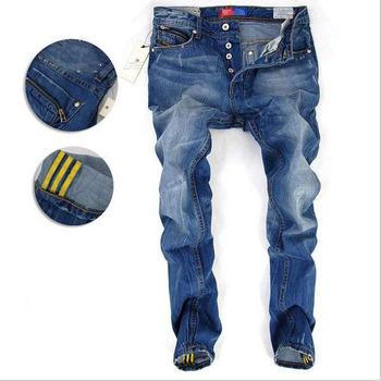 Calças de brim Frete Grátis 2014 outono e inverno moda jeans casual