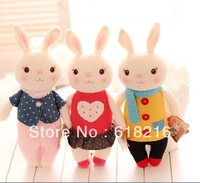 Wholesale 50 pcs mixed color 8 style Lovely  Stuffed Animals Tiramitu Metoo Rabbit 35cm Bunny Baby Toys Kids Child Gifts T88