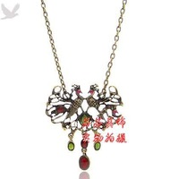 Accessories peacock vintage Women hot long design necklace