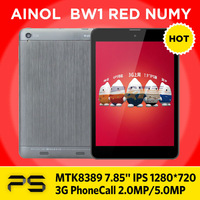 Freeshipping 7.85 inch Ainol BW1 Red Numy 1G/8G  1024*768 2.0MP/5.0MP 3500mAh MT8389 Quad core WIFI GPS 3G Phone Call Tablet