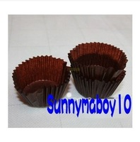 50% discount! High Quality Size 6CM Dark Brown Color 1750pcs/Lot Round cake paper cups / Cupcake Cake liners cup muffin case