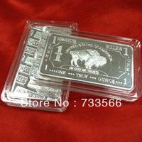 America Germany Silver Plated Bars, One troy Ounce German Buffalo Silver Clad Bullion Bars, DHL Free Shipping