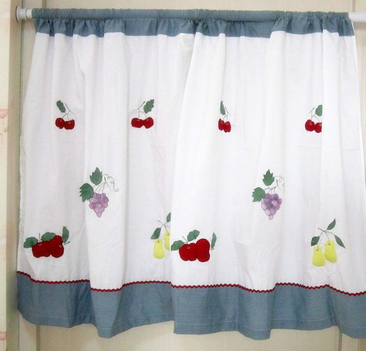 Compra cortinas de frutas cocina online al por mayor de for Telas cortinas cocina