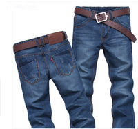 Men's clothing male straight jeans autumn and winter men's water wash denim long trousers
