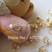 MD-573 3D 50pcs/bag Nail Decoration Metal Gold Ring Metal Nail Art Decoration