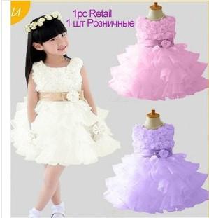 The new 2014 girls rose dress, princess dress, children dress is free shipping(China (Mainland))