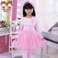 2014  child spring long-sleeve dress children's clothing child princess dress  girl dress