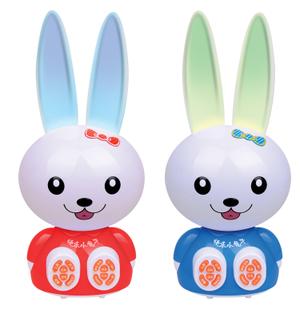 New arrival big rabbit story machine child pre-teaching toy band music(China (Mainland))