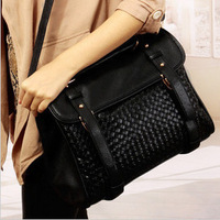 Hot-selling 2013 quality knitted handbag messenger bag fashion bag all-match women's handbag