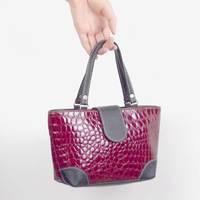 Crocodile pattern fashion women's bag PU soft glossy handbag handle bag small carry bags women's handbag