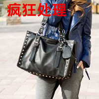 2014 women's handbag shoulder bag messenger bag casual fashion big bag spring magazine bags