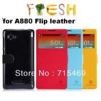 Free ship 5pcs for Lenovo A880 Flip leather case fresh series Nillkin cases + Retail box