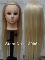 Factory direct Positive Head doll head long hair color 70cm long Can be hot doll wig mannequin model first head, high quality