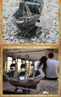 Free shipping 3D puzzle Pirates of the Caribbean Black Pearl Ship Model Queen Revenge creative birthday gift