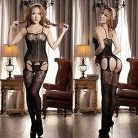2014 Sexy Mesh Black Crotchless FishNet Body stocking Bodysuit Lingerie Nightwear Custume Women Hot W7051