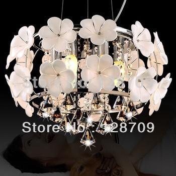 Online kopen wholesale bloemen kroonluchter uit china bloemen kroonluchter groothandel - Moderne witte kamer ...
