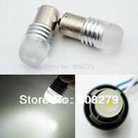 2pcs 1156/P21W/Ba15s 244 Motorcycle Power LED 1.5W watt Lens glas Old-Timer Light Bulb white 6V