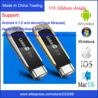 WOW!l RAM 2GB DDR3  Miracast Airplay dlna widi dongle wireless display HDMI 1080p TV stick for Android4.2 Windows7 iOS