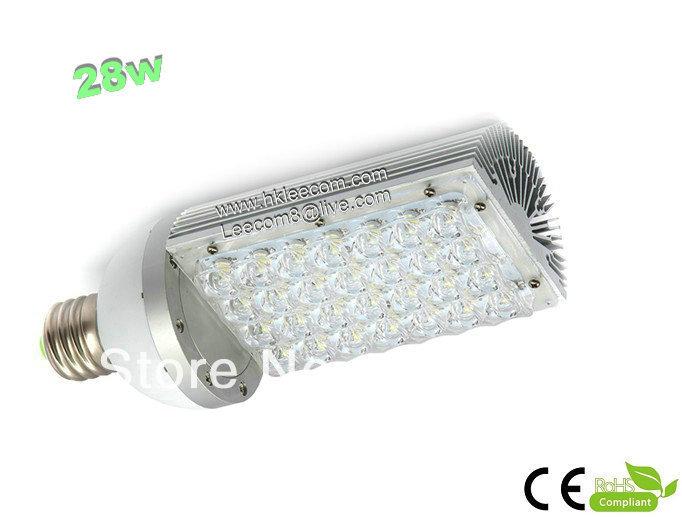 Free shipping:8pcs/lot 28w led street light with E27,/40 LED base ,rotation 360 degress,AC85-265V Input voltage,IP54 ,CE Rohs.(China (Mainland))