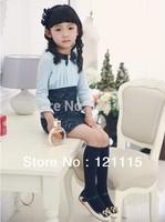 New Korea lace style girl's Dresses children Clothing Long Sleeve dress Princess dress Autumn Winter free shipping