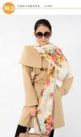 2014 Limited New Floral Adult Fashion Women >175cm Pure Cashmere Argyle Long Scarf Shawl