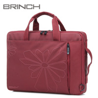 "BRINCH shockproof color women laptop bag computer bag 14"" inch notebook bag with Inner tank purple and black color BW-182"