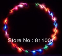 """Promotion  36"""" / 90cm LED Glow Hula Hoop 24 LED Multicolor  Performance Hoop Sports Toys Loose Weight  wholesale"""