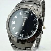 The new 2014 thin tux and generous fashion men watch waterproof steel strip wrist watch free shipping