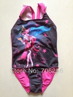 No Swing Tag or collar tag Wholesale Free Shipping 2013 Girl Kids Monster High Skull Swimsuit Swimwear Swimming 10pcs/lot MGS01