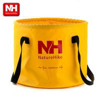 Outdoor folding bucket fishing bucket circle folding bucket ultra-light portable