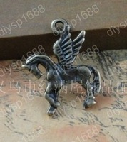 Fashion Jewelry Findings Accessories charm pendant alloy bead Antique Bronze 22*18MM horse shape 100PCS JJA3211