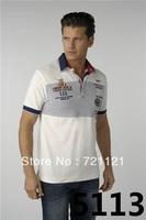 Free Shipping 2014 Slim Fit Shirts For Men Aeronautica Militare Air Force One Brand T-Shirt Polo Short Sleeve Shirt S-2XL