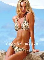 Free Shipping Product Recommendation Sexy Lady Condole Swimsuit Bikini Beach Clothing Leopard Swimsuit Bandage Swimsuit Y034