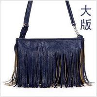 Hot sale 2013 Fashion Women Handbag Tassel Cross Body PU Shoulder Bag Womens Handbags Messenger Bag Free Shipping